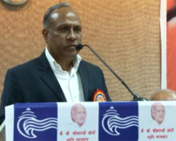 Suresh Haware addressing in Late Shrikant Joshi Memorial Lecture